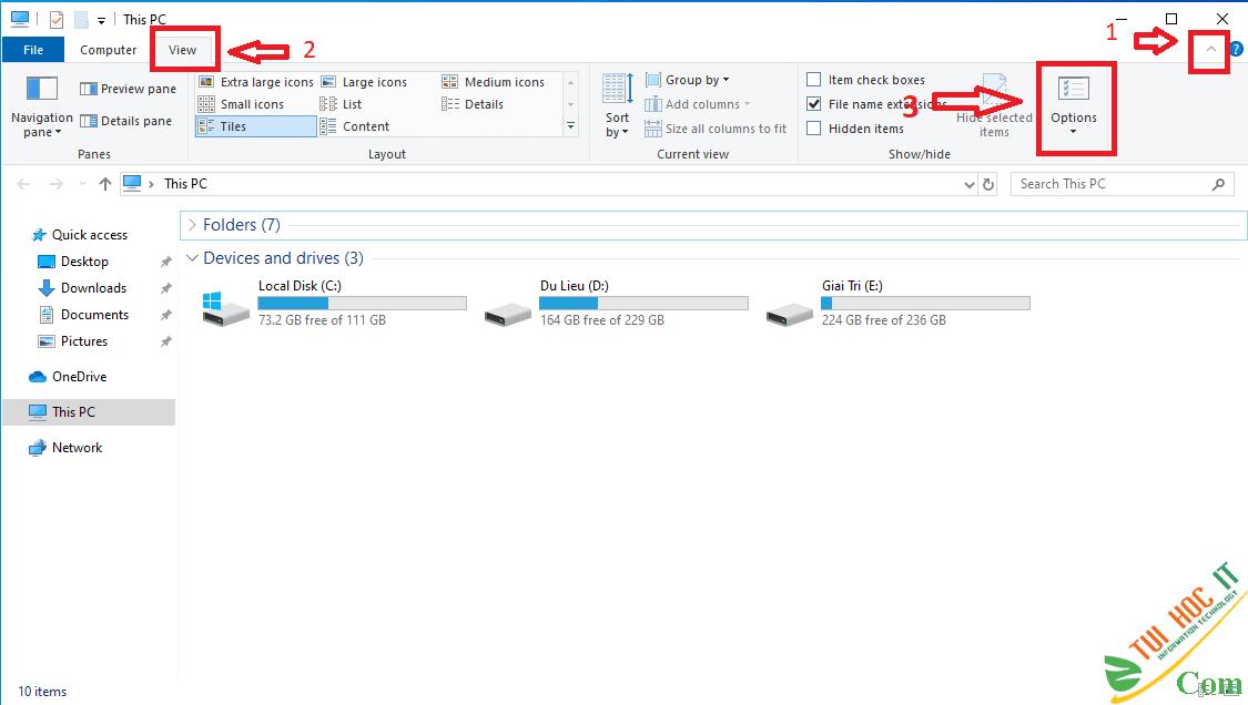Hướng dẫn cách hiện đuôi file trên Windows 10 3