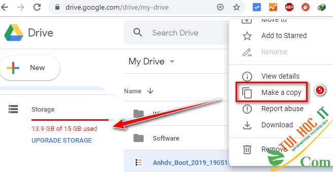 Cách Tải File Trên Google Drive Giới Hạn Tải Trong 24h 19