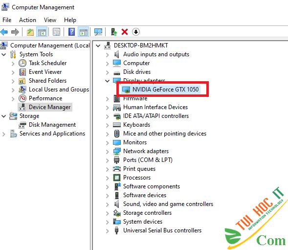 Hướng dẫn tải và cài đặt driver card màn hình VGA NVidia 5