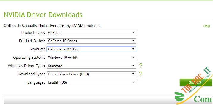 Hướng dẫn tải và cài đặt driver card màn hình VGA NVidia 3