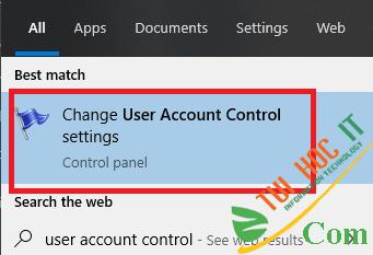 Cách tắt UAC User Account Control trên Windows 10 6