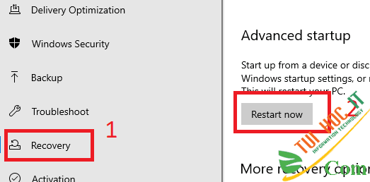 Cách tắt xác minh chữ ký điện tử driver trên Windows 10 10