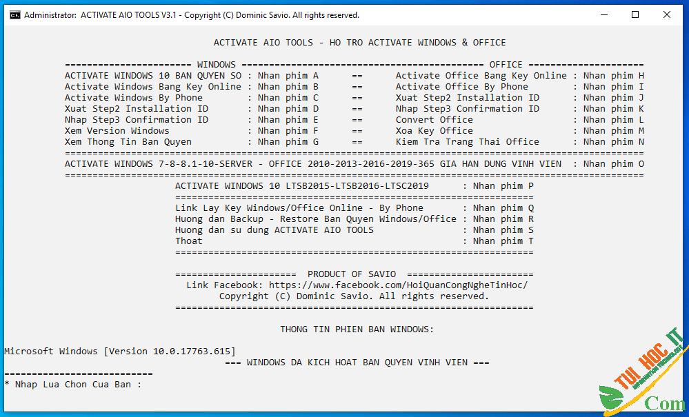 Cách Active Windows 10 kích hoạt bản quyền số vĩnh viễn 32
