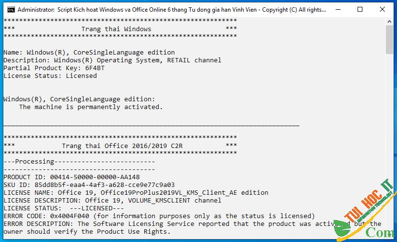 Cách Active Windows 10 kích hoạt bản quyền số vĩnh viễn 40