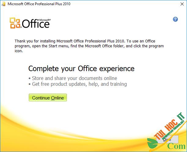 Cài Đặt Office 2010-B5