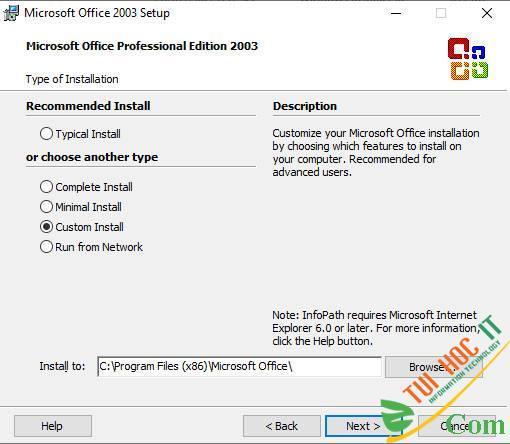 Download Tải Office 2003 Full + Hướng dẫn cài đặt chi tiết 6