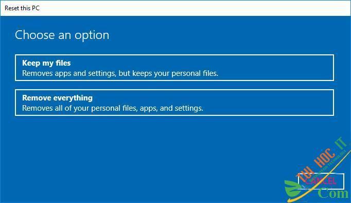 Hướng Dẫn Cách Reset Windows 10 Không Mất Dữ Liệu (Reset Win 10) 14