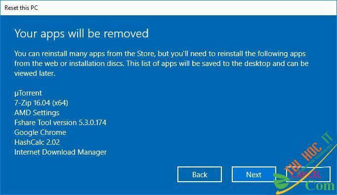 Hướng Dẫn Cách Reset Windows 10 Không Mất Dữ Liệu (Reset Win 10) 15