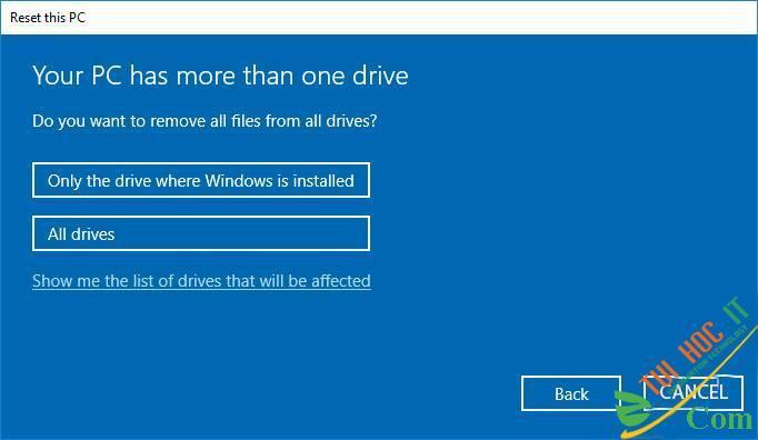 Hướng Dẫn Cách Reset Windows 10 Không Mất Dữ Liệu (Reset Win 10) 16