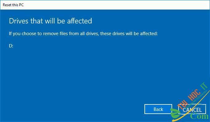 Hướng Dẫn Cách Reset Windows 10 Không Mất Dữ Liệu (Reset Win 10) 17