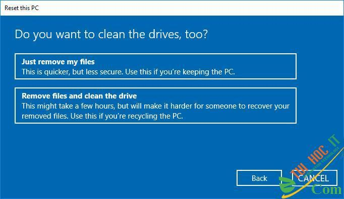 Hướng Dẫn Cách Reset Windows 10 Không Mất Dữ Liệu (Reset Win 10) 18