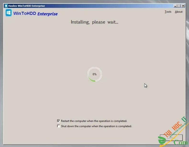 Cách Cài Win 10/8/7/Windows Server Từ Ổ Cứng Bằng WinToHDD 11