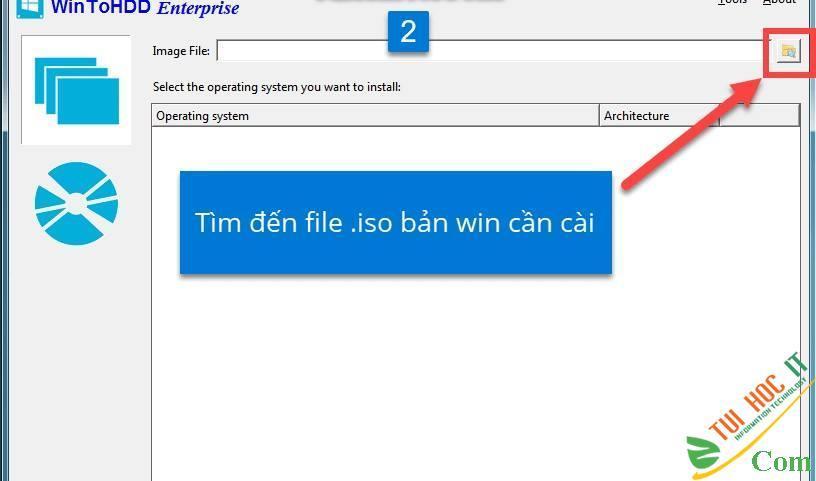 Cách Cài Win 10/8/7/Windows Server Từ Ổ Cứng Bằng WinToHDD 3