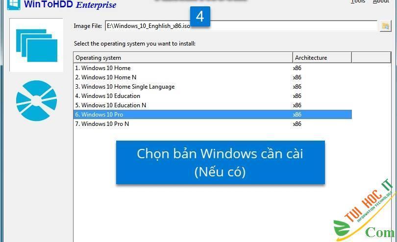 Cách Cài Win 10/8/7/Windows Server Từ Ổ Cứng Bằng WinToHDD 5