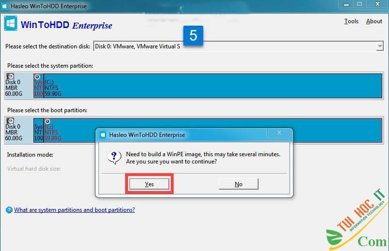 Cách Cài Win 10/8/7/Windows Server Từ Ổ Cứng Bằng WinToHDD 17