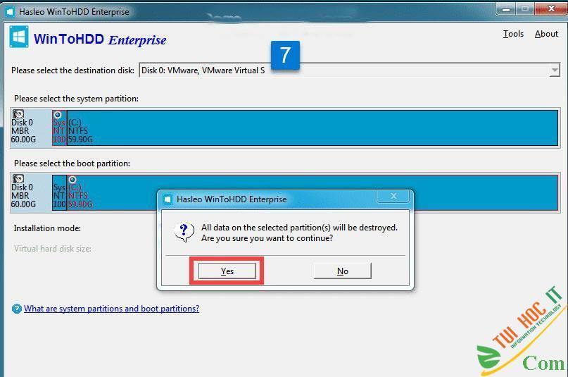 Cách Cài Win 10/8/7/Windows Server Từ Ổ Cứng Bằng WinToHDD 19