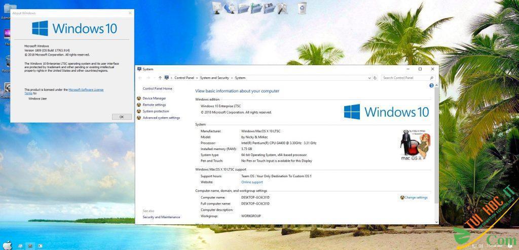 WINDOWS MAC OS X 10 ENTERPRISES LTSC (X64) 2020 9