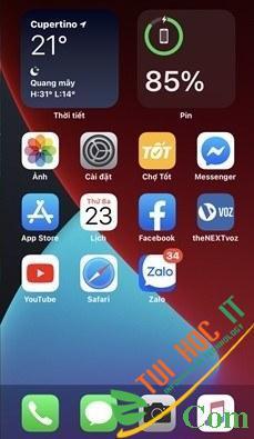 Cách thêm và xóa Widget ở màn hình chính IOS 14 4