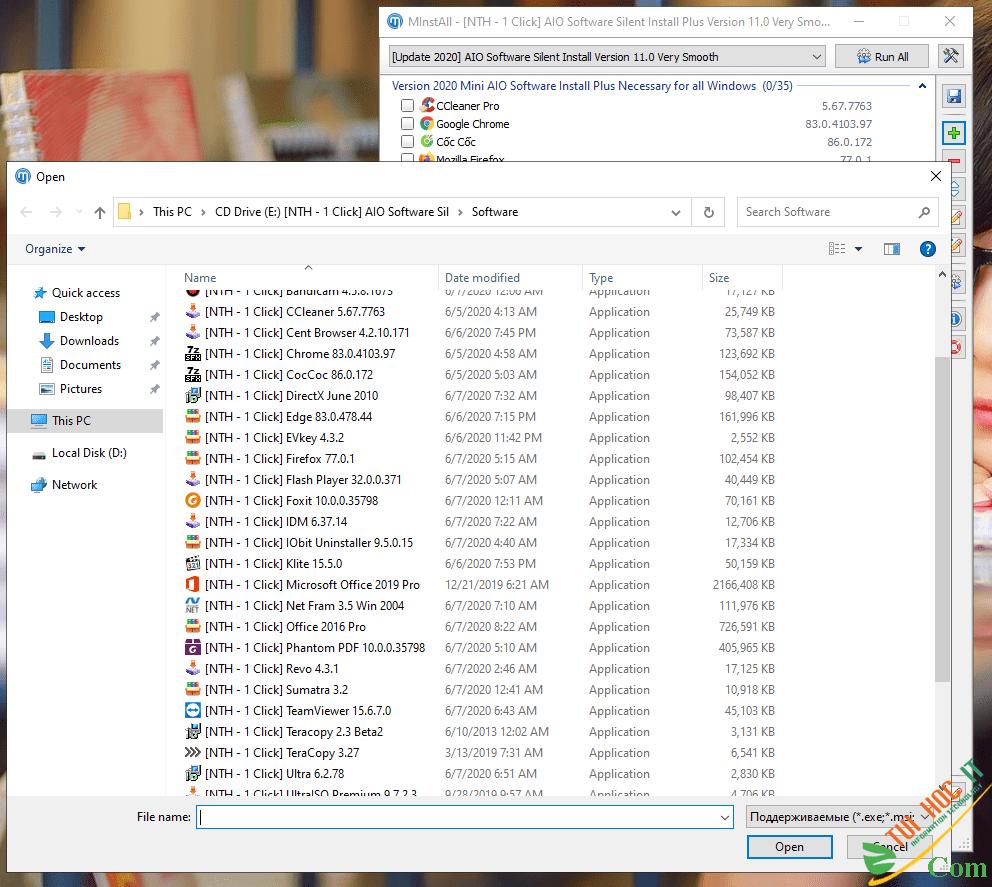 Software AIO Silent Version 11.0 – Bộ Cài Đặt Phần Mềm Không Thể Thiếu Cho Windows 2020 4