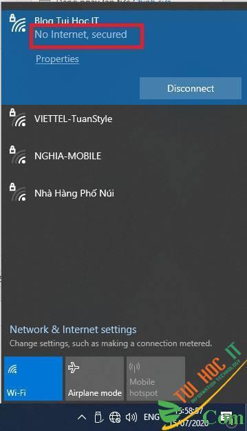 Khắc phục lỗi Wifi báo No Internet, Secured trên Windows 10 2004 8