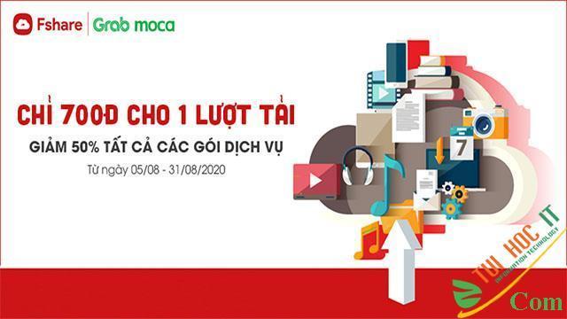 Fshare sale tưng bừng thả ga lưu trữ, thanh toán tiết kiệm cùng ví Moca 2