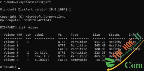 Cách ẩn phân vùng ổ cứng Windows bằng CMD đơn giản 8