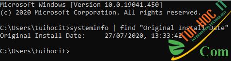 Cách kiểm tra ngày cài Windows xem máy tính đã dùng bao lâu 3