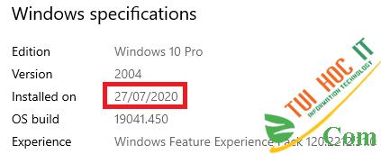 Cách kiểm tra ngày cài Windows xem máy tính đã dùng bao lâu 4