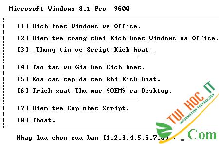 Cách Active Windows 8/8.1 Kích Hoạt Bản Quyền bằng CMD Vĩnh Viễn 7