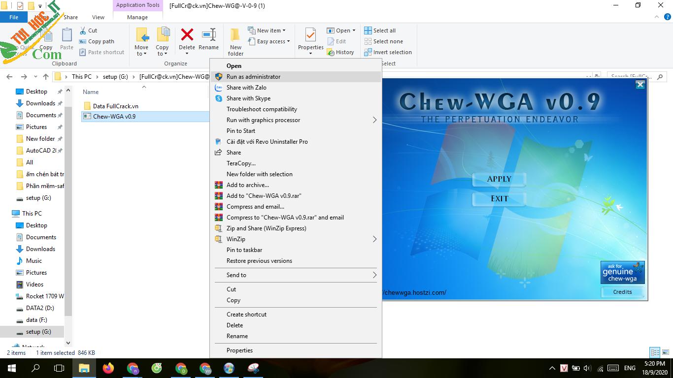 Tải Chew WGA v0.9 Bản Mới Nhất 2021- Kich Hoạt Win 7 100% 7