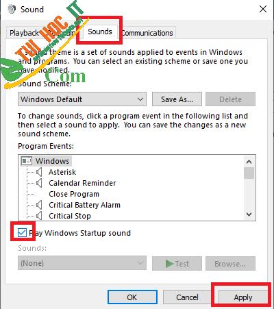 Hướng Dẫn Cách Bật Âm Thanh Khởi Động Trên Windows 10 6