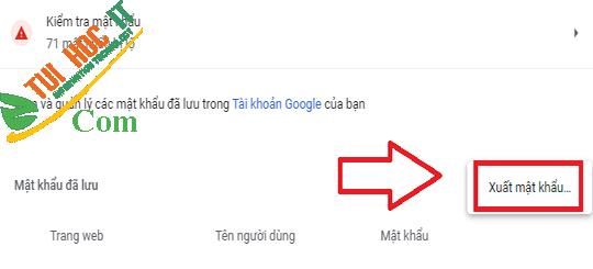 Hướng dẫn xuất và xóa mật khẩu đã lưu trong Chrome 11