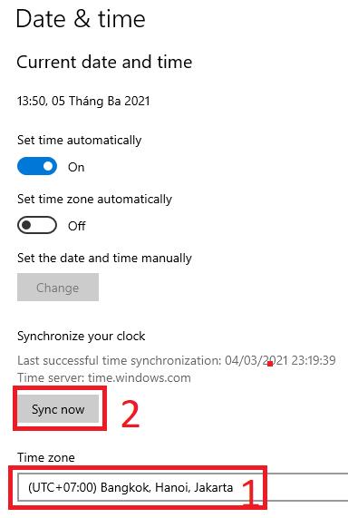 Hướng dẫn sửa lỗi đồng hồ bị sai trên Windows 10 4