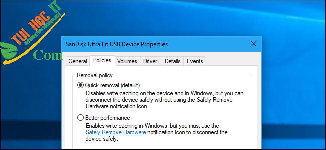 Hướng dẫn tối ưu bộ nhớ USB để có hiệu suất cao trên Windows 10 5