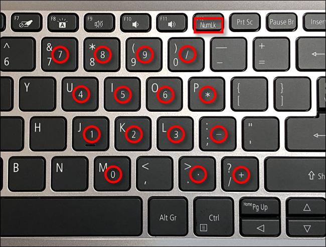 Cách sửa bàn phím gõ số thay vì chữ cái 5