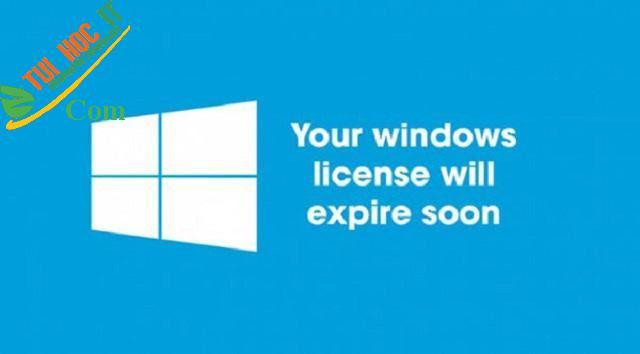 Cách tắt thông báo Your Windows license will expire soon 3