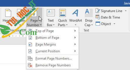 Hướng dẫn cách đánh số trang trong Microsoft Word 2016 3