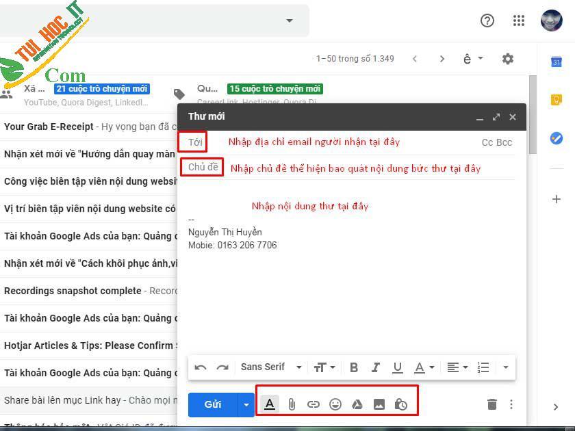 10 Cách Bật Gửi Email Dành Cho Người Mới -Thành Công 100% 9