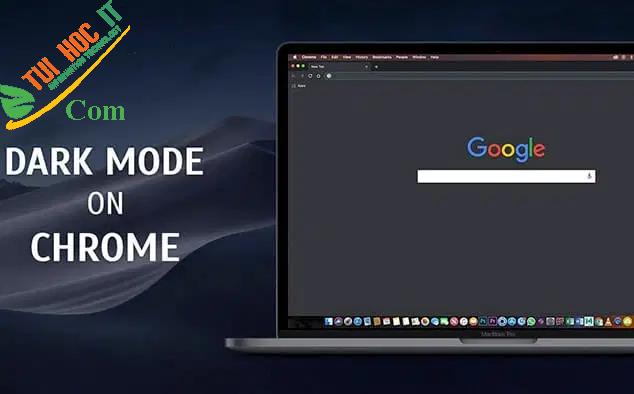 Cách bật dark mode chrome trên các phương tiện kết nối internet 4