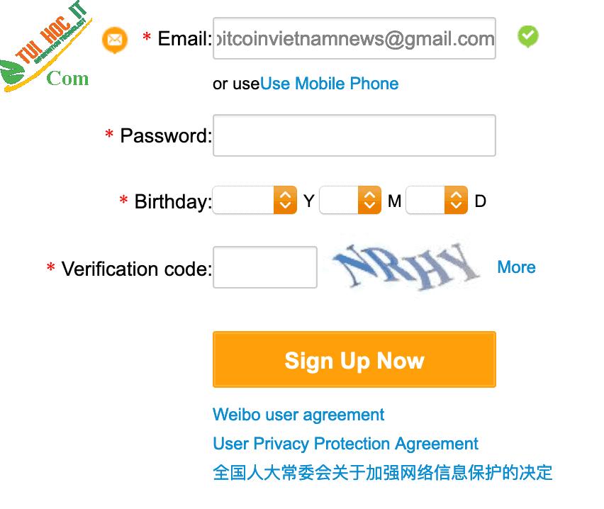 Top những cách đăng ký weibo đơn giản, nhanh chóng 18