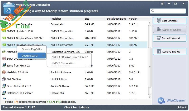 Top 10 phần mềm gỡ cài đặt được sử dụng nhiều nhất hiện nay 13