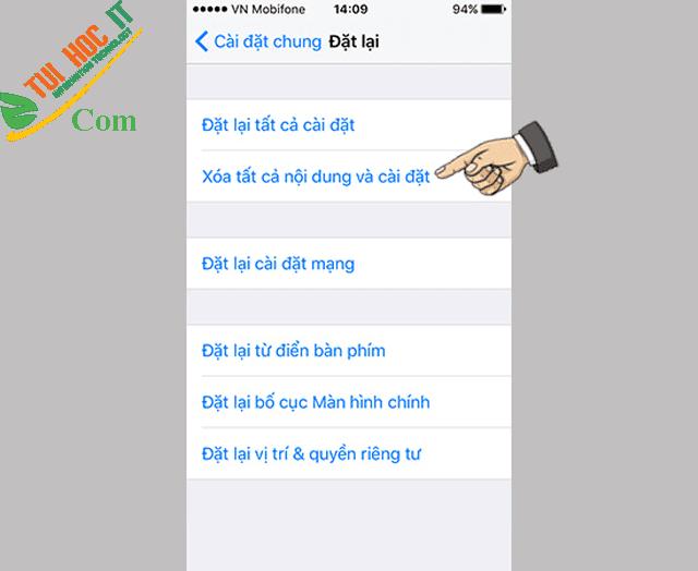 Hướng dẫn cách reset Iphone để khôi phục cài đặt gốc cho mọi Iphone 7