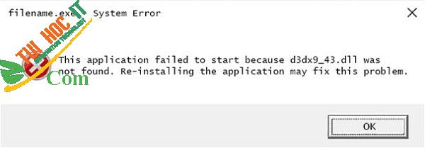 Cách sửa lỗi thiếu file d3dx9_43.dll trên máy tính nhanh nhất 2021 4